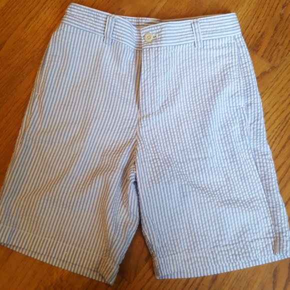 a36ebd7daf Vineyard Vines Bottoms | Seersucker Blue Striped Shorts 10 | Poshmark